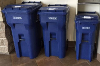 Naperville offers three sizes of recycling carts