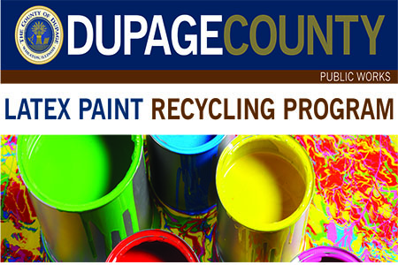 DuPage County offers free latex paint recycling