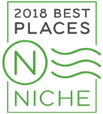 2018 Niche Best City to Raise a Family badge