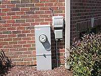 Good landscaping around a utility meter