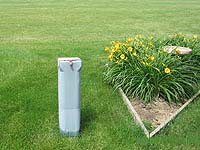 Good landscaping around a utility pedestal