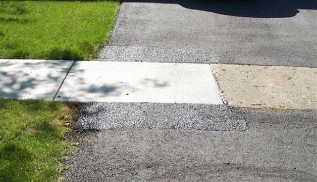 Sidewalk Removal Program - Driveway Patch Example