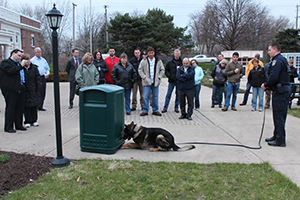 K-9 Niko (now retired) demonstrating his skills