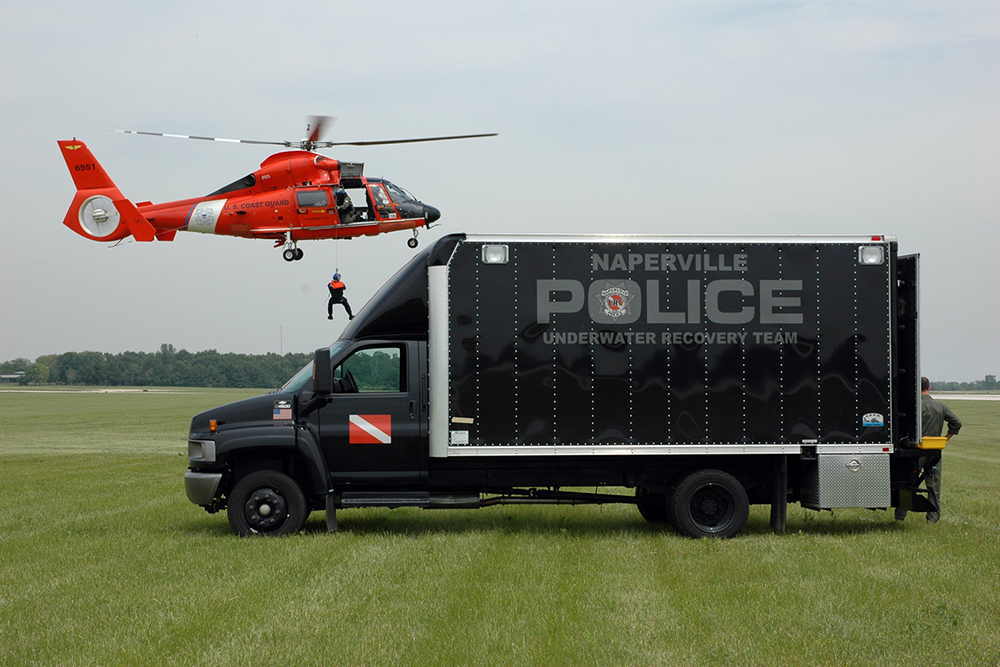 The Underwater Recovery Team is one of a number of specialty assignments available to hard-working officers at the Naperville Police Department.