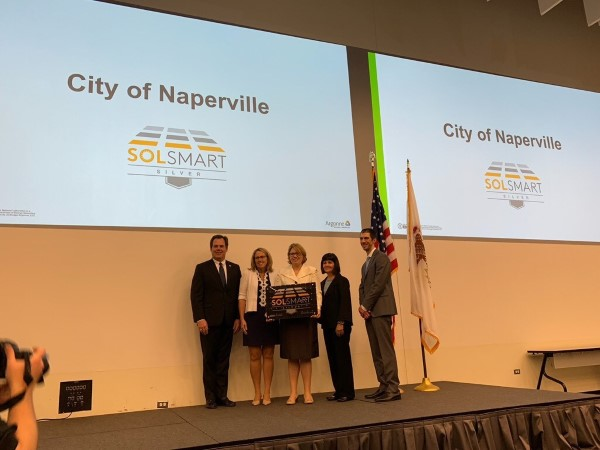 The City of Naperville received silver level SolSmart designation on May 9, 2019.