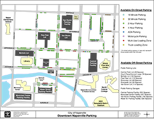 Downtown Naperville Parking Map